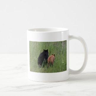 2 osos taza básica blanca