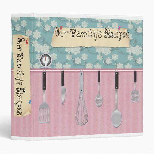 """2"""" Our Family's Recipes 3 Ring Binder"""
