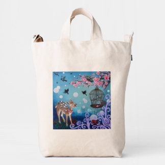 2 Painting BAGGU Duck Bag, Canvas Duck Bag