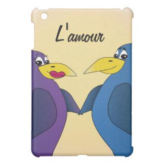 2 pájaros divertidos del amor delante de una Luna