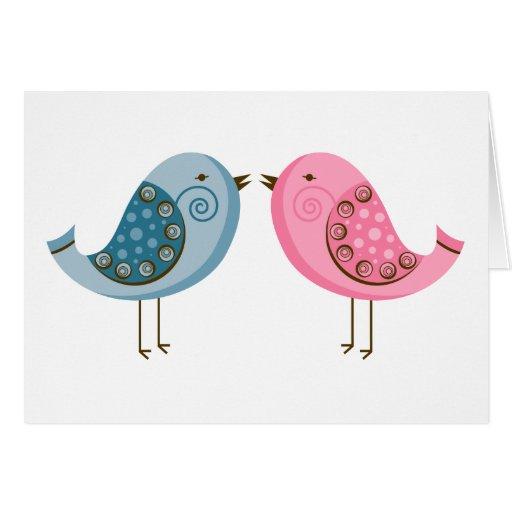 2 pájaros tarjeta de felicitación