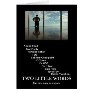2 palabras tarjetas