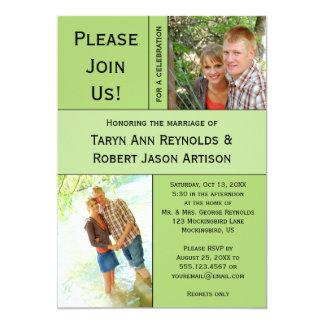 #2 palidecen - la invitación verde del boda del