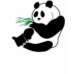 2 Pandas Eat Bamboo In Rain Forest Kids T Shirt shirt