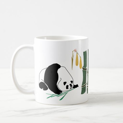 2 Pandas Eat Bamboo In Tropical Forest Mugs