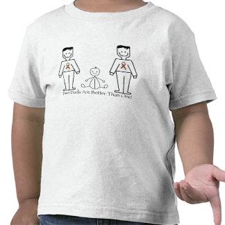 2 papás son mejores de uno camisetas