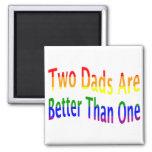 2 papás son mejores (el arco iris) imán cuadrado