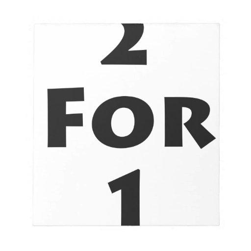2 para 1 blocs de papel