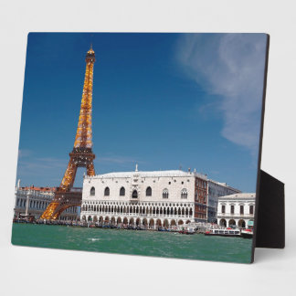 2 para 1 Venecia y París - para arriba mezclado mu Placas De Madera