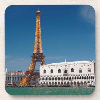 2 para 1 Venecia y París - para arriba mezclado mu Posavasos De Bebida