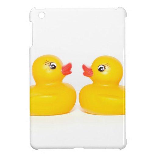 2 patos de goma en amor iPad mini protector
