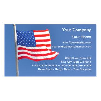 2 patrióticos - plantilla de la tarjeta de visita