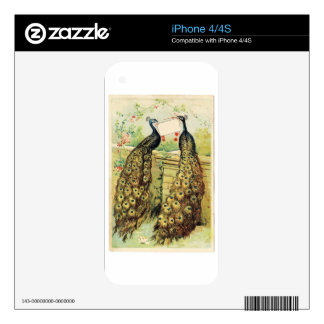 2 peacocks skins for iPhone 4S