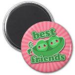 2 PEAS  BEST FRIENDS 2 INCH ROUND MAGNET