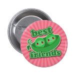 2 PEAS  BEST FRIENDS BUTTON