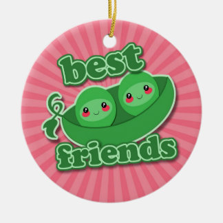 2 PEAS  BEST FRIENDS CHRISTMAS TREE ORNAMENTS