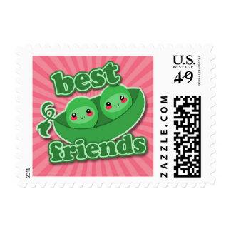 2 PEAS  BEST FRIENDS POSTAGE STAMP
