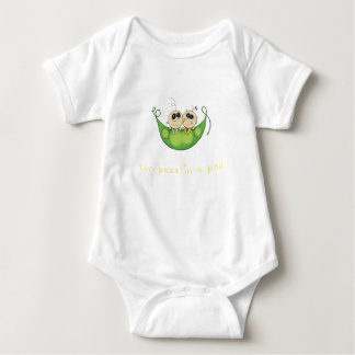 2 Peas in a Pod – Boy Girl Fraternal Twins Baby Bodysuit