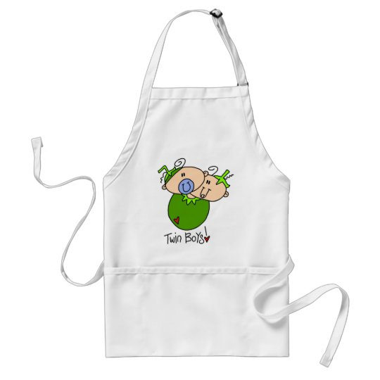 2 Peas in a Pod Twin Boys for Mom Adult Apron