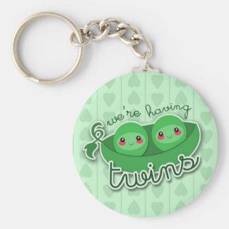 2 PEAS in a POD TWINS - keychain