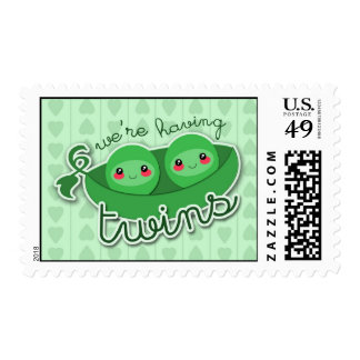 2 PEAS in a POD TWINS - postage