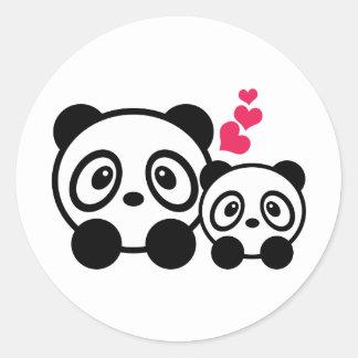 2 pegatinas lindos de la panda pegatina redonda