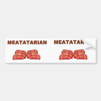 2 pegatinas para el parachoques de Meatatarian Pegatina Para Auto