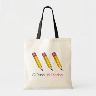 #2 Pencil, #1 Teacher Budget Tote Bag