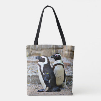 2 Penguins Tote Bag
