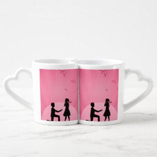 2 people in love illustration couples coffee mug