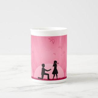 2 people in love illustration tea cup
