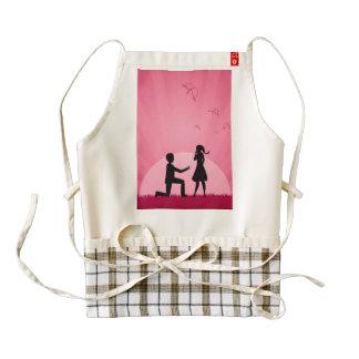 2 people in love illustration zazzle HEART apron