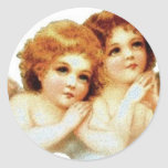 2 pequeños ángeles que ruegan - pegatina