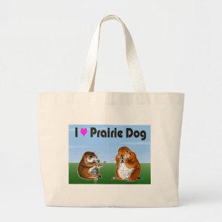 2 perros de las praderas (2) bolsa tela grande