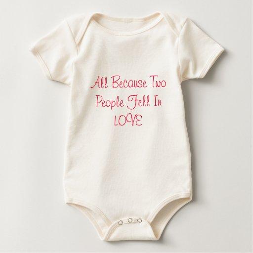 2 personas en amor body para bebé