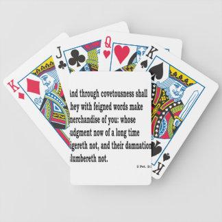 2 Pet. 2:3 Bicycle Playing Cards