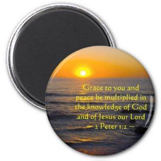 2 Peter 1:2 Fridge Magnet