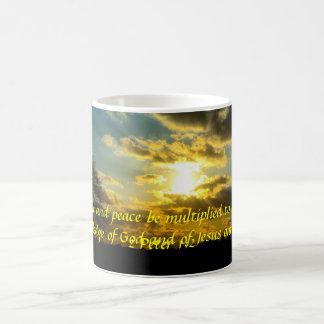 2 Peter 1:2 sunrise bible verse mug