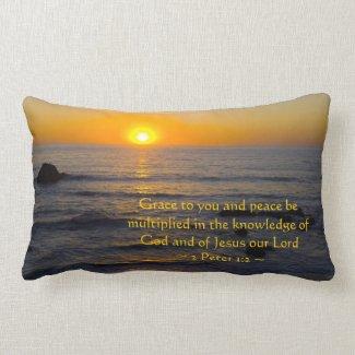 2 Peter 1:2 Throw Pillows