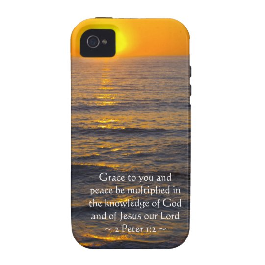 2 Peter 1:2 Vibe iPhone 4 Cover
