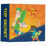 "2"" Phineas and Ferb Surfing Vinyl Binder"