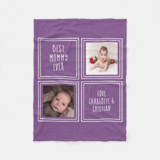 2 Photo And Text  Create Your Own Personalized Fleece Blanket