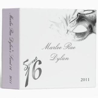 "2"" PHOTO Binder Scrapbook Sweet 16 Silver White"