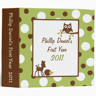 "2"" PHOTO Binder Scrapbook Woodland Friend"
