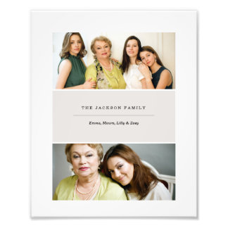2 Photo Collage Print