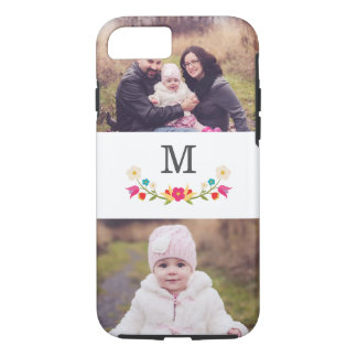 2 Photo | Country Floral Monogram iPhone 7 Case