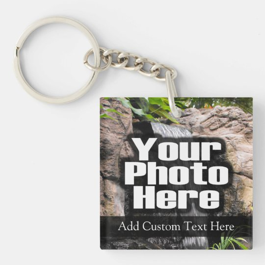 2-Photo Custom Full Color Keychain with Text