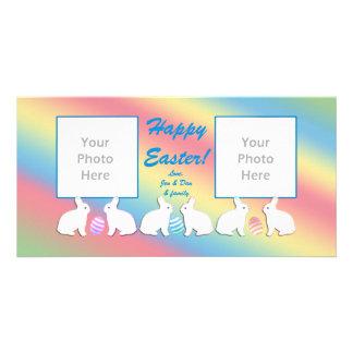2 Photo Easter Bunny Row Card