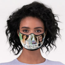2 Photo Modern Graduation Personalized Premium Face Mask