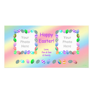 2 Photo Painted Easter Eggs Photo Card